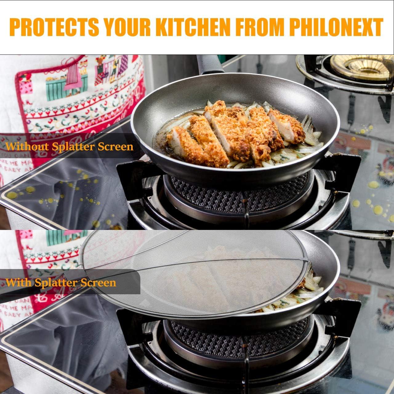 21 Cm éclaboussures écran-METALTEX Protect Poêle Cover Guard cuisine maille petit