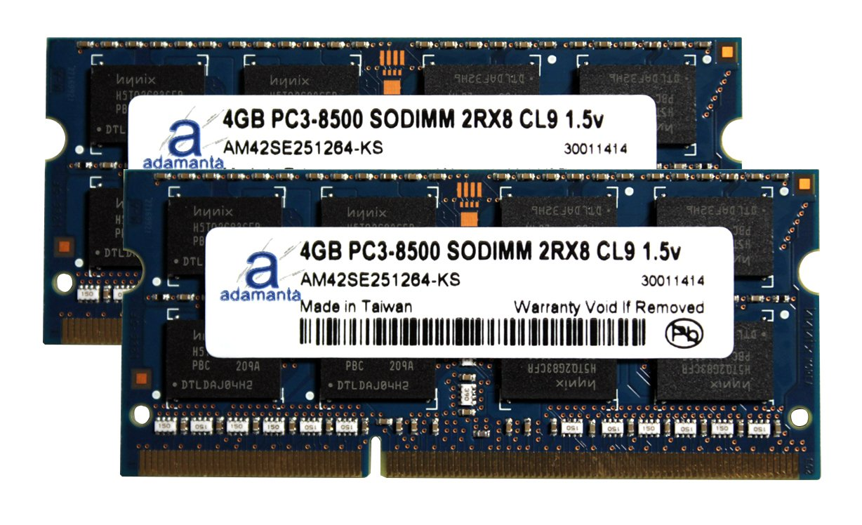 Adamanta 8GB (2x4GB) Apple Memory Upgrade for Late 2009 iMac 21.5'' & 27'' Model 10,1 with Core 2 Duo Processor DDR3 1066Mhz PC3-8500 SODIMM 2Rx8 CL7 1.5v RAM