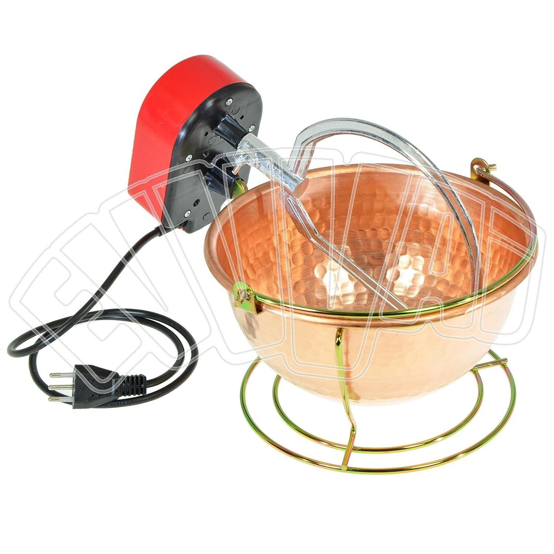 Vigor Blinky Nuova Fac Paiolo elettrico in rame martellato 5W cm.26-3 Lt (n16)