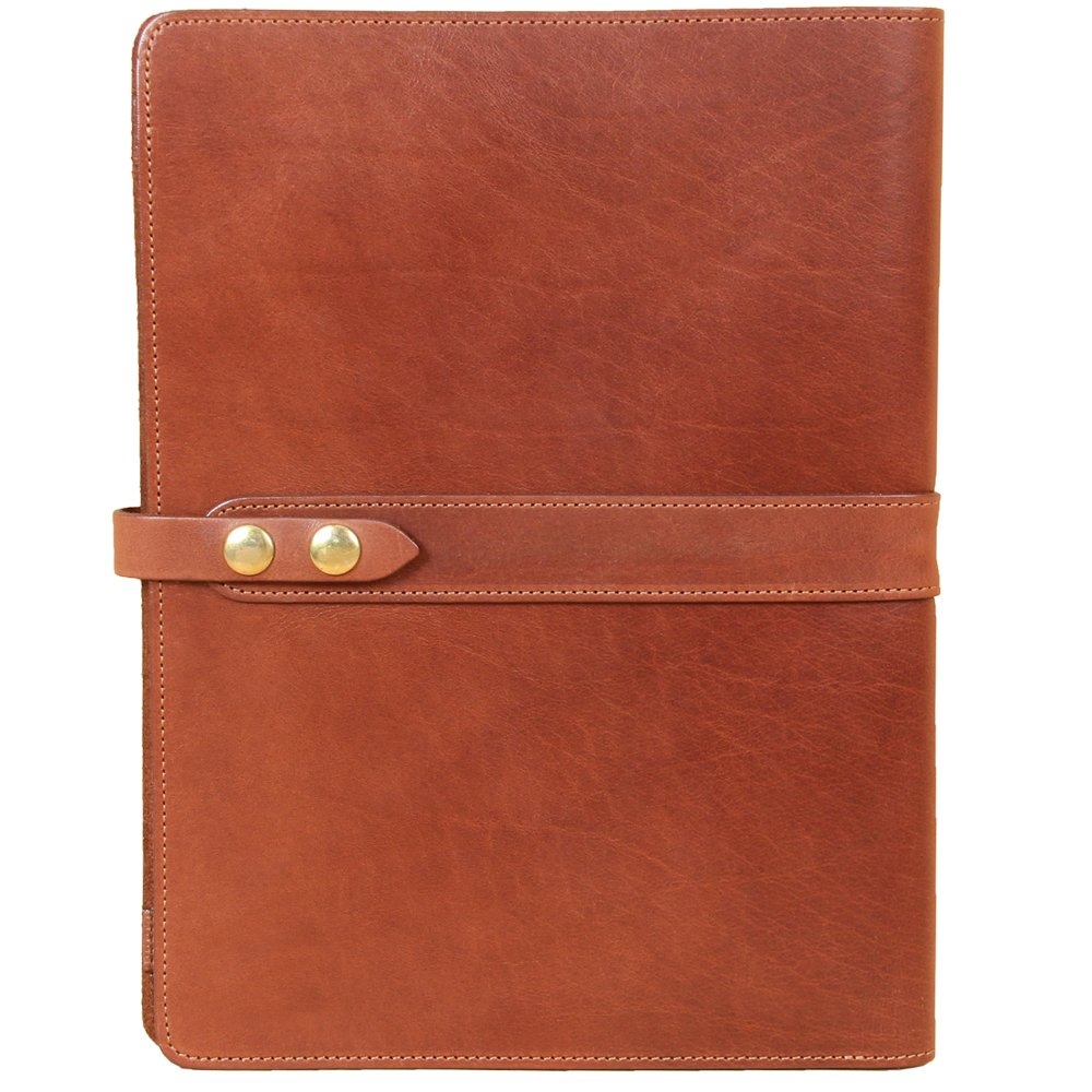 Left-Hand Leather Business Portfolio Notebook Folio Writing Notepad Brown USA Col. Littleton
