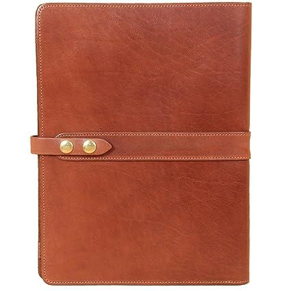 save off c3111 d2629 Amazon.com : Left-Hand Leather Business Portfolio Notebook Folio ...