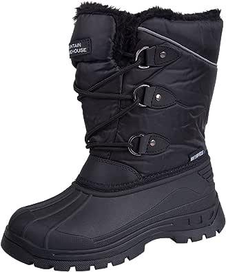 Mountain Warehouse Whistler Embroma los Cargadores de la Nieve - Plantas del pie de Snowproof, Calientes, Invierno, de Respirable de los niños de los Cargadores