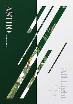 Astro - 1st Album [All Light] (Random version) Music CD + Postcards +  Photocards + Folded Poster + Extra Photocards Set