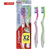 Colgate Toothbrush Max White Medium 1+1 - Assorted Colors