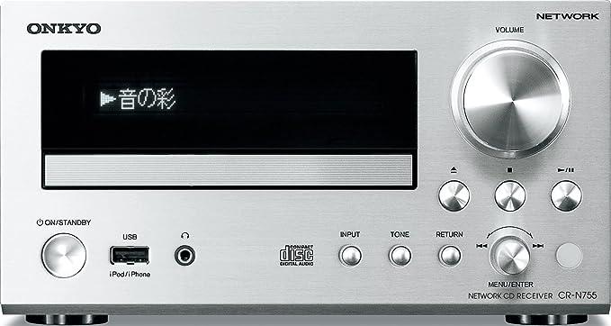 amazon com onkyo network cd receiver silver cr n755 s cell rh amazon com onkyo cr-n755 service manual onkyo cr-n755 user manual