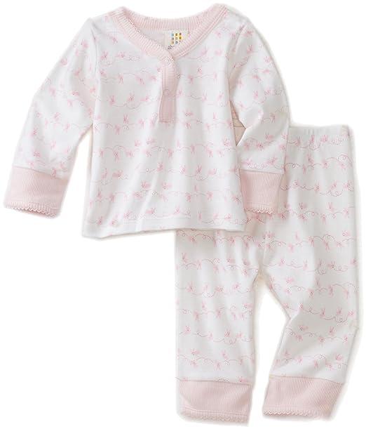 da7ddb247536 Amazon.com  Disney Baby Girls  Newborn Layette Loungewear Two Piece ...
