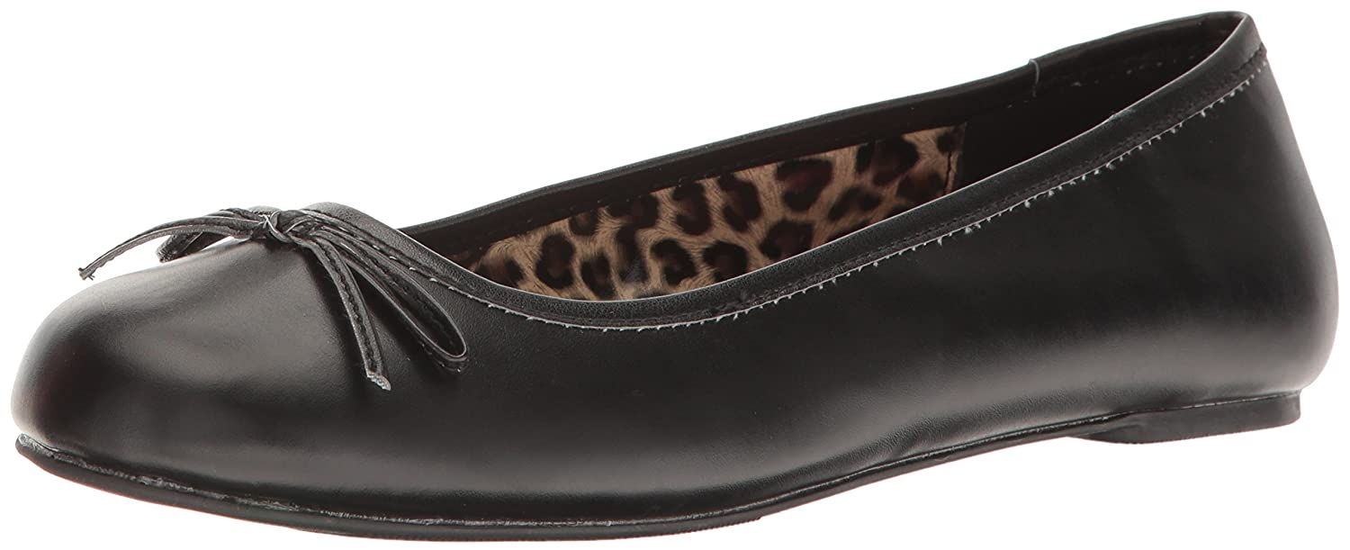 Pleaser Women's Anna01/Bpu Ballet Flat B06XGMZL2T 12 B(M) US|Black Str Faux Leather