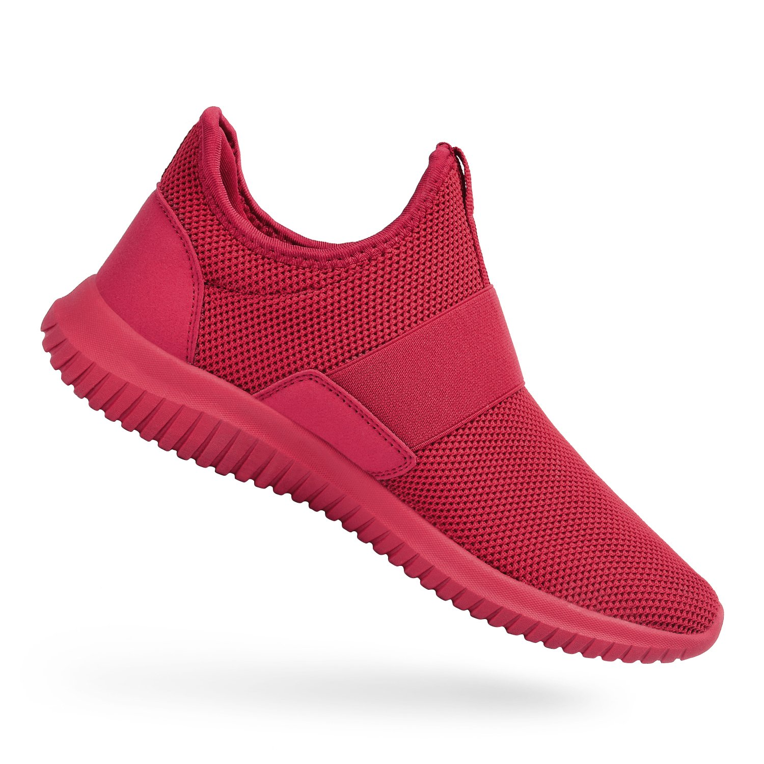 9308e1f4f8eb0b Galleon - Feetmat Shoes For Men Knit Mesh Athletic Shoes For Boy Red 8.5