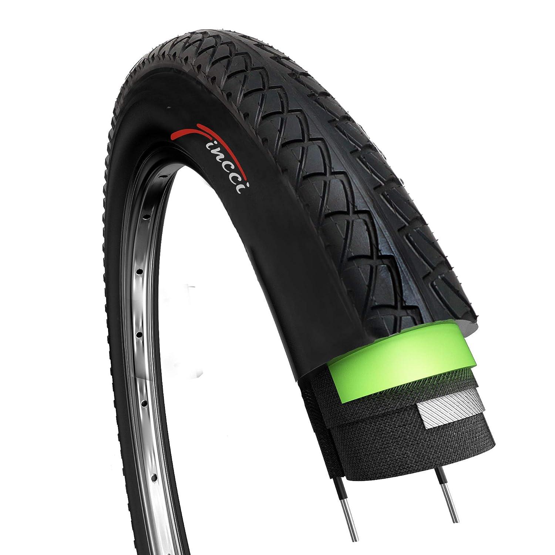 Fincci Par 26 x 1,95 Pulgadas 53-559 Cubiertas con 2.5mm Anti Pinchazo para Carretera MTB Montaña Hibrida Bici Bicicleta (Paquete de 2): Amazon.es: Deportes ...