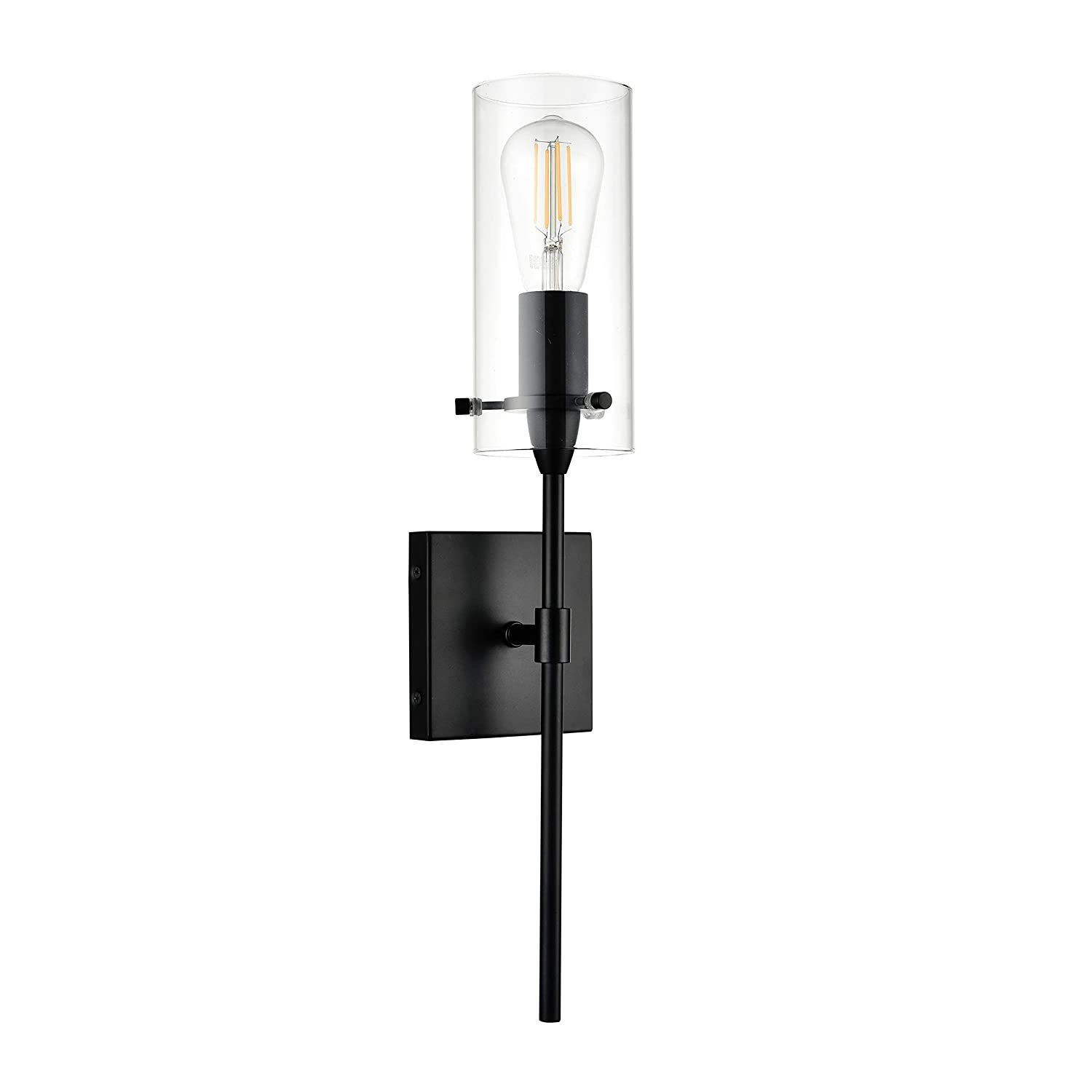 Effimero Wall Sconce Black Vanity Light Fixture LL-WL31-BLK