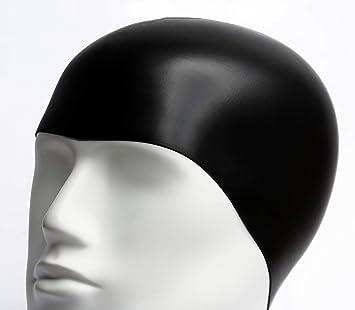 33958a55718e Gorro de Baño de Silicona/Gorros de Natacion Impermeables para Adulto  Hombre o Mujer Unisex/Elastico y Resistente/Talla Unica Negro para Piscina  o SPA