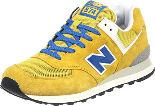 New Balance Herren ML574 D Hausschuhe, Yellow/Blue