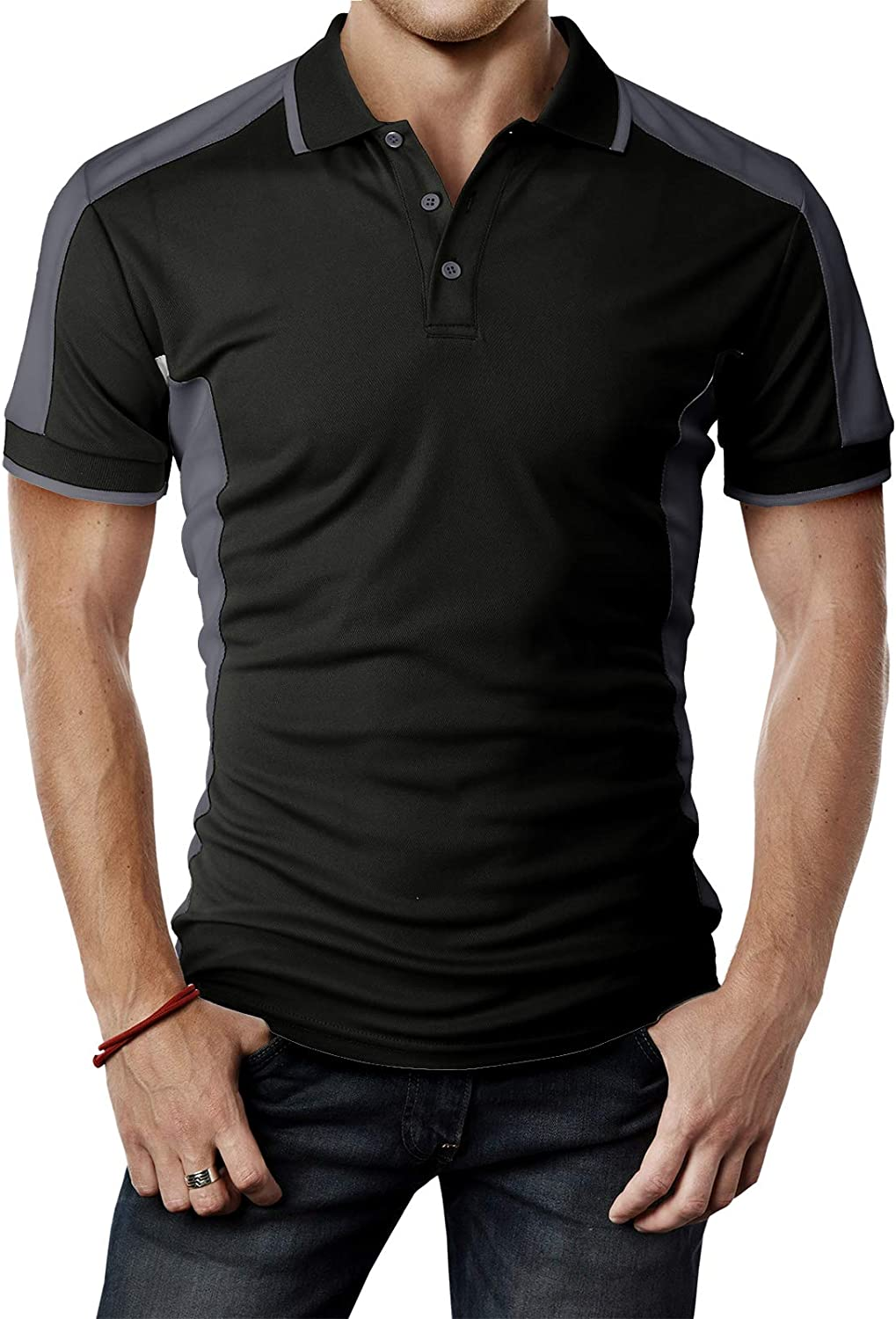 H2H Mens Active Cool Dry Cool-Pass Short Sleeve Polo T-Shirts of Various Styles