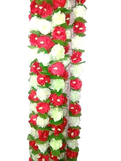 Buy aarna craft ganpati decoration red white flower strips handy aarna craft ganpati decoration red white flower strips handy craft festival decoration mightylinksfo