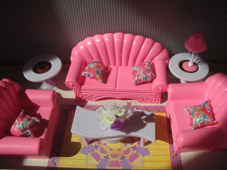 Barbie Size Dollhouse Furniture Living Room Set Ebay
