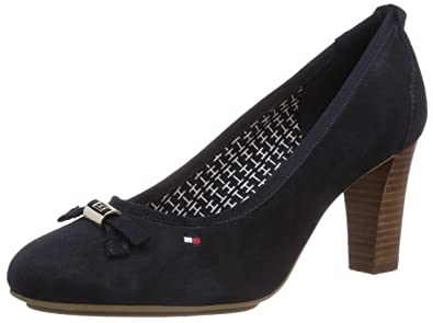 Tommy Hilfiger CINDY 16B, Women Closed-Toe Pumps & Heels, Blue - Blau
