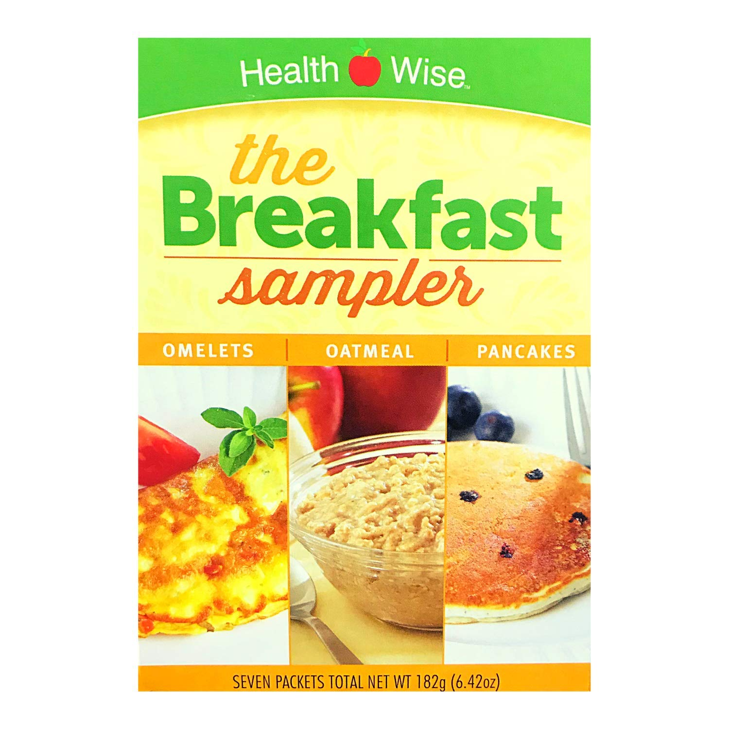 Healthwise - Diet Breakfast Sampler for Weight Loss - High Protein, Low Calorie, Low Carb - Contains Omelets, Oatmeal, and Pancake Mixes (1 Pack)