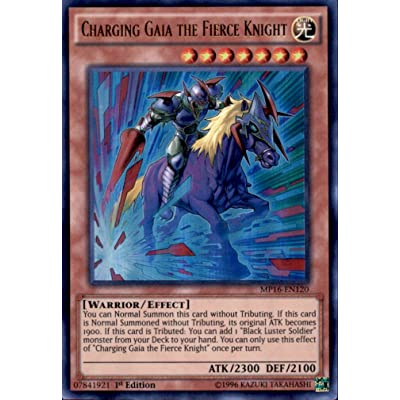 Yu-Gi-Oh! - Charging Gaia the Fierce Knight (MP16-EN120) - Mega Pack 2016 - 1st Edition - Ultra Rare
