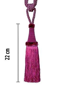 Embrasse Pampille 65 cm/22 cm avec cordon de serrage Violet Bijoux ...