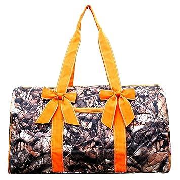 Amazon.com   Quilted Camo Duffle Bag (Orange)   Baby f16ef8c241664