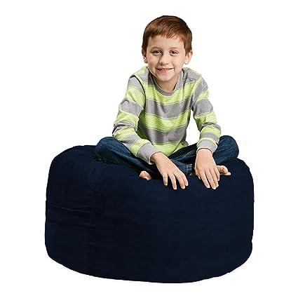 Swell Chill Sack Bean Bag Chair Large 2 Memory Foam Furniture Bean Bag Big Sofa With Soft Micro Fiber Cover Navy Short Links Chair Design For Home Short Linksinfo