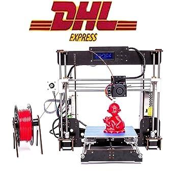 Impresora 3d, zr-printing a8-w5 estructura de madera LCD de alta ...
