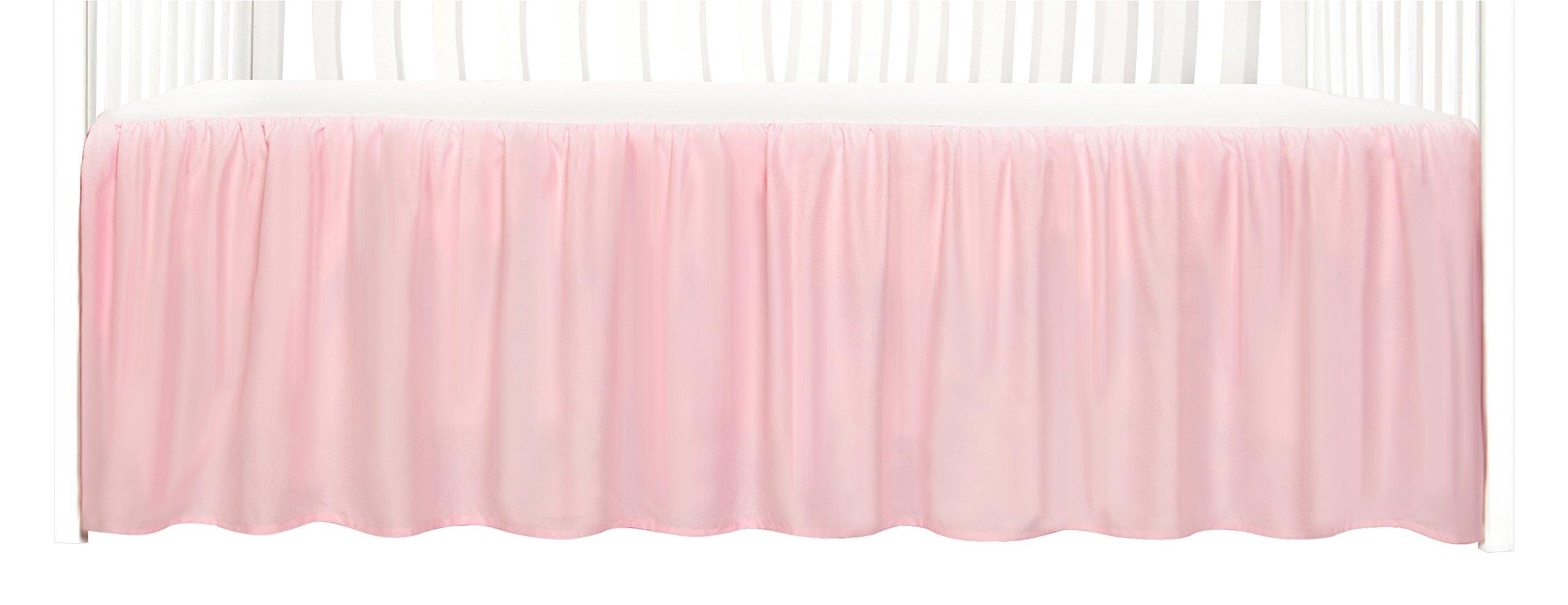 Tadpoles Dust Ruffle Crib Skirt, Pink