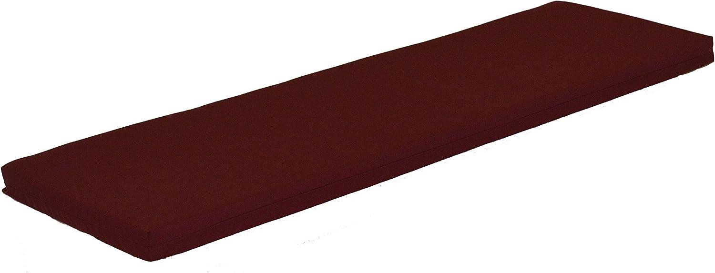 A L Furniture Sundown Agora 5 Cushion for Bench Or Porch Swing, 55 L 17 W 2 T, Burgundy