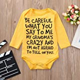 Newborn Baby Boys Girls Romper Letter Print Long