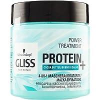 Gliss - Mascarilla Capilar Hidratante 4 En 1 - Para pelo normal - Con Manteca De Cacao - 400Ml, Fórmula vegana y sin…