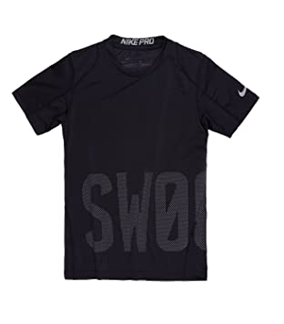 e7f2263dc00e Amazon.com  Nike Boy`s Pro Cool Compression Fitted Short Sleeve T ...