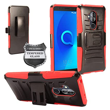 Amazon.com: Funda híbrida para Alcatel 7 Folio/6062 con ...