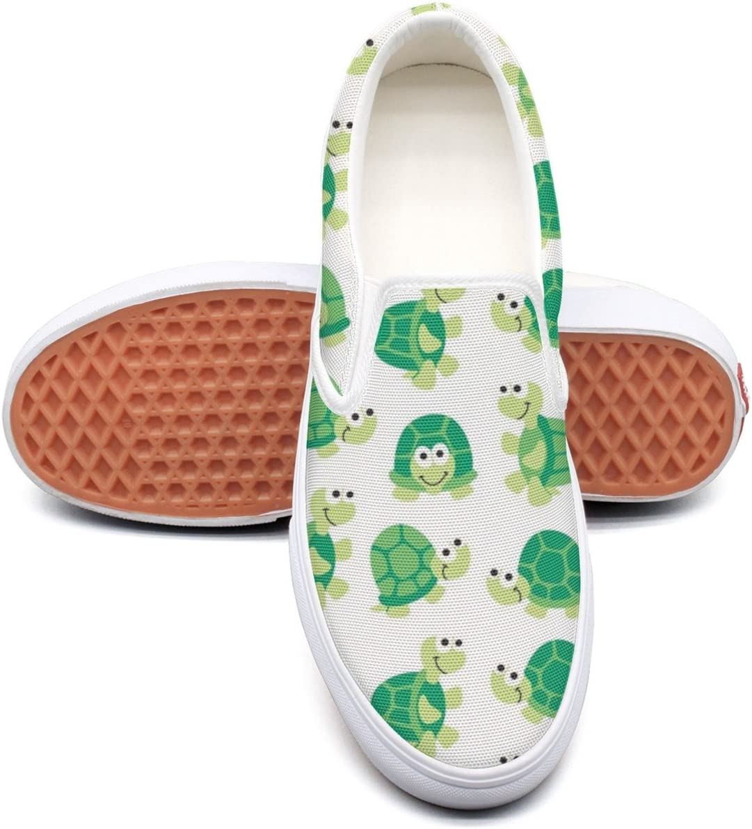 seventtynine Green Turtle Classic Womens Canvas Slip-Ons Loafer Shoes Sneaker