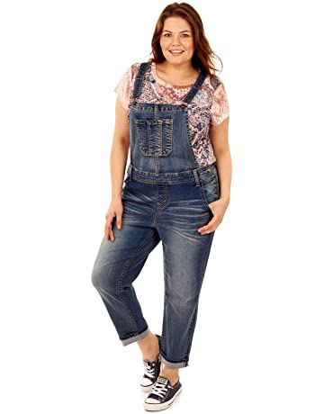 55ec2e7386b4bf WallFlower Plus Size Stretch Denim Overalls