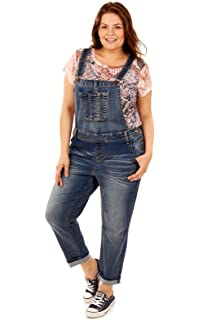 f32b7f3273b dollhouse Womens Plus Size Destructed Skinny Overall Dollhouse Apparel  7202DHXL