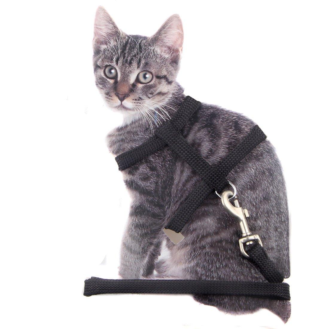 Cat Harness and Leash Adjustable Nylon Halter Kitten Nylon Strap Belt Safety