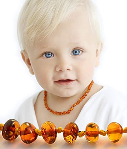 ae19d867d830c Baltic Amber Teething Necklace for Baby - Hazelaid Natural Baltic Necklace  for Boys & Girls -