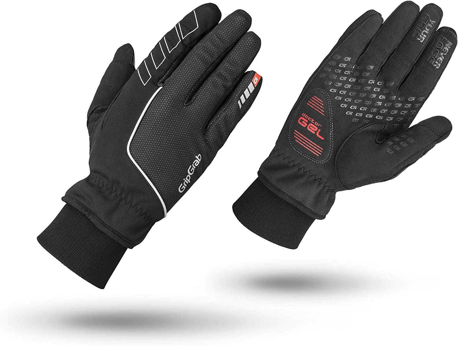 Gloves Ride Waterproof Wint Glo 016 L Black Large Gripgrab Clothing