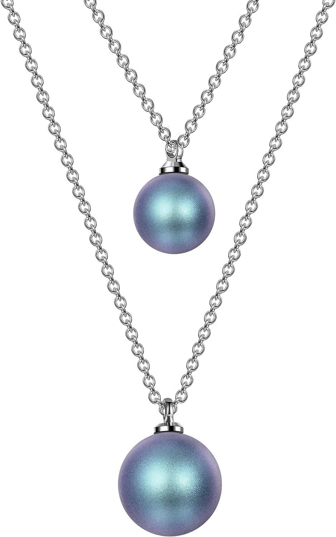 TOJEAN Colgantes Mujer, Collar de Perlas Doble, con Perlas de Swarovski, Joyas para Mujer