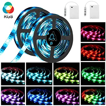 Led Streifen Batterie Solmore 2x 2m Led Strip Lichtband Stripe