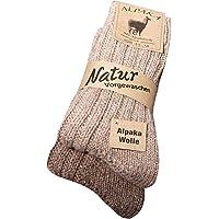 kb-Socken - 2 Paar Wollsocken Alpaka Socken in verschiedenen Varianten für Damen Herren warme Socken Strümpfe für den Winter bis Größe 50