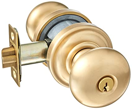 Baldwin 5205.ENTR Classic Style Keyed Entry Door Knob Set with Classic Rosette t,