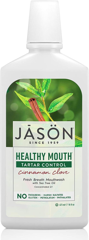 JASON Healthy Mouth Cinnamon Clove Tartar Control Mouthwash, 16 oz Bottle : Jason Cinnamon Clove : Beauty