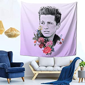 Charlie Puth Tapestry Mural Wall Hanging Decor for Bedroom Living Room Dormitory Apartment Tapestry 59 X 59 Inch