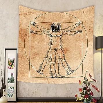 Amazon.com: Gzhihine Custom tapestry Human Anatomy Tapestry Medieval ...
