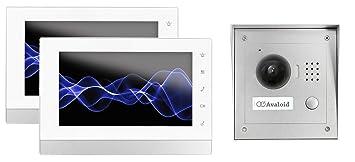 Türöffner 7 Zoll LCD Einfamilienhaus Video Gegensprechanlage mit Kamera Set