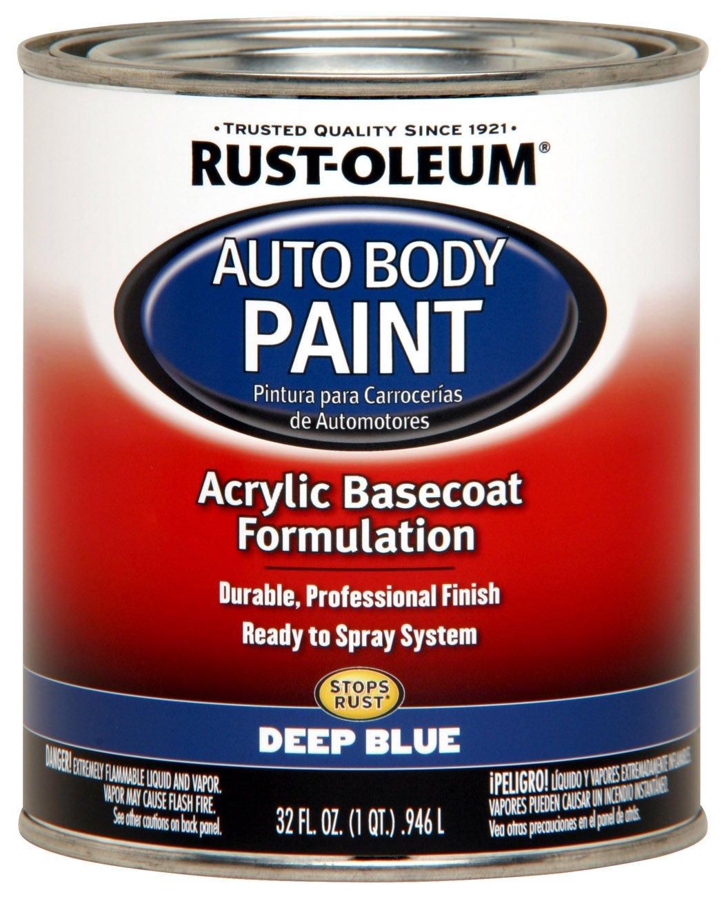 Midnight blue acrylic enamel paint kit auto paint car - Rust Oleum Automotive 253505 32 Ounce Autobody Paint Quart Deep Blue House Paint Amazon Com