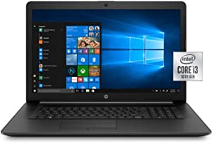 HP 17.3 Inch Laptop Computer 10th Gen Intel Core i3 1005G1 up to 3.4GHz, 4GB RAM, 16GB, 1TB HDD, DVD, WiFi, Bluetooth, Windows 10 (Renewed)