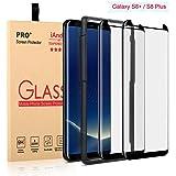 [2 包] Galaxy S8 Plus 屏幕保护膜玻璃【安装方便托盘】,iAnder 3D 弧形【钢化玻璃】屏幕保护膜适用于 Galaxy S8 Plus S8+【保护箱】