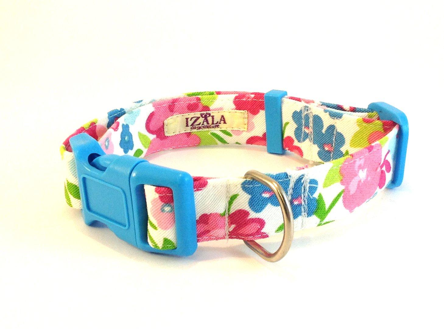 Collar para perro TL Rosas Rosas (Grosor 2cm)